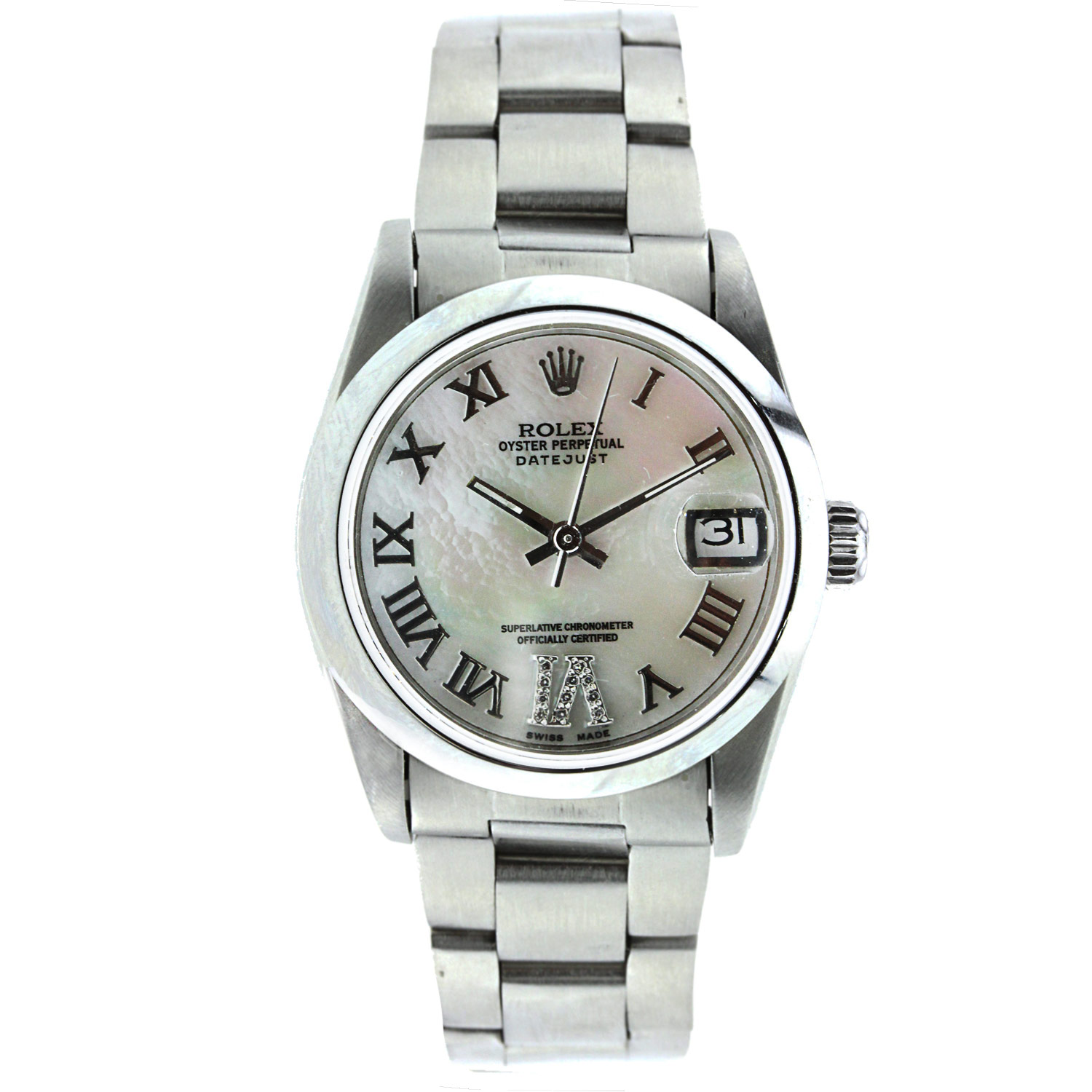 """Image of """"Vintage Datejust 31Mm Midsize Stainless Steel with Diamonds"""""""