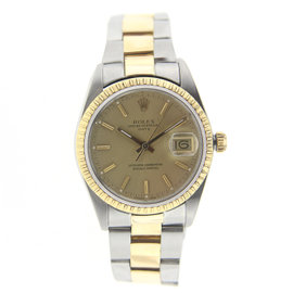 Rolex 36MM Date Just Stainless Steel and Yellow Gold with Oyster Band