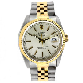 Vintage Rolex Datejust 36MM Stainless Steel and Yellow Gold with Fluted Bezel