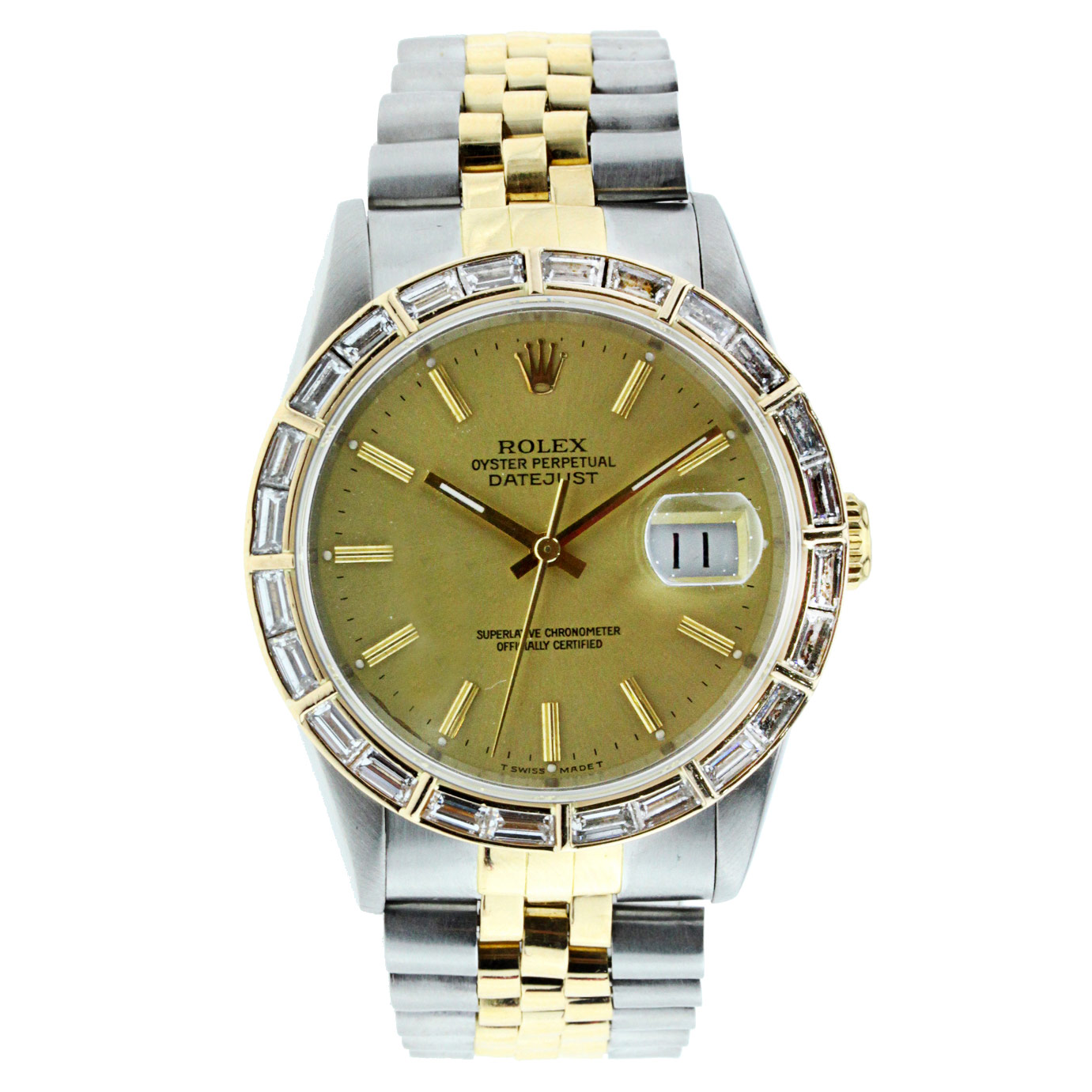 """Image of """"Older Model Customized Rolex Datejust 36Mm Stainless Steel and Yellow"""""""