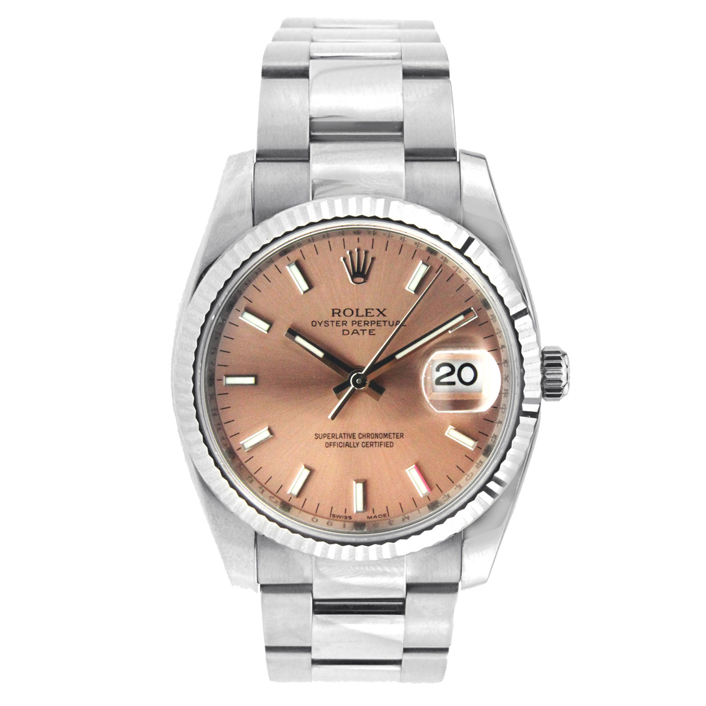 """Image of """"Rolex Date Watch Stainless Steel with 34Mm Case - 115234"""""""