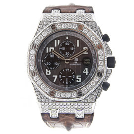 Men's Audemars Piguet Royal Oak Offshore Chronograph with Diamonds - 26170ST.OO.D091CR.01