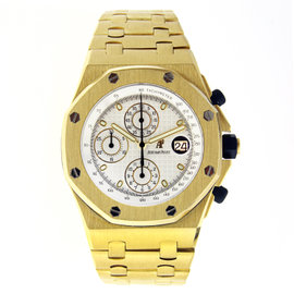 Audemars Piguet Royal Oak Offshore Chronograph Yellow Gold White Dial