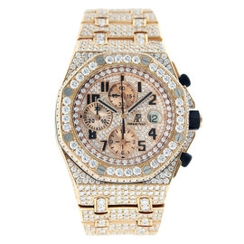 Audemars Piguet Royal Oak Offshore Chronograph Rose Gold with Diamonds