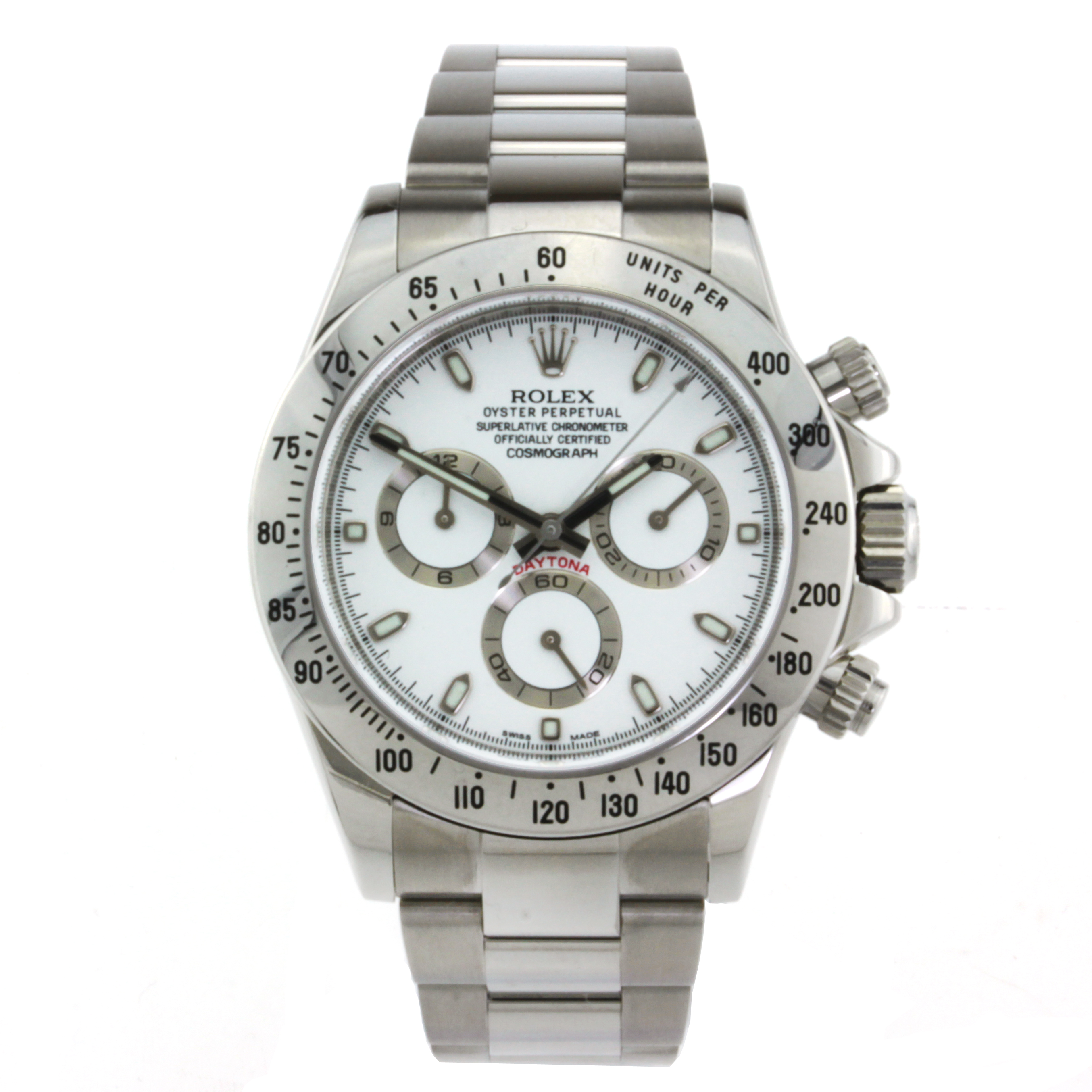 """Image of """"Rolex Daytona Stainless Steel with White Dial"""""""