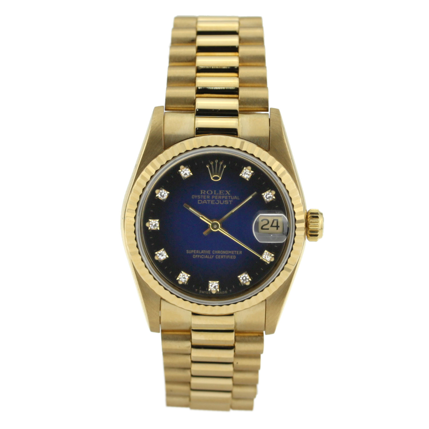 """Image of """"Blue Dial Rolex Datejust with Diamond Dial 31mm 178278 blip"""""""