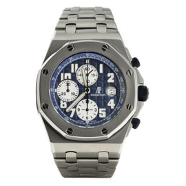 Audemars Piguet Royal Oak Offshore Chrono Blue Dial Titanium 42mm 25721TI.OO.1000TI.04