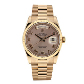 Rolex Day Date Rose Gold with Roman Numeral Dial 36mm 118235