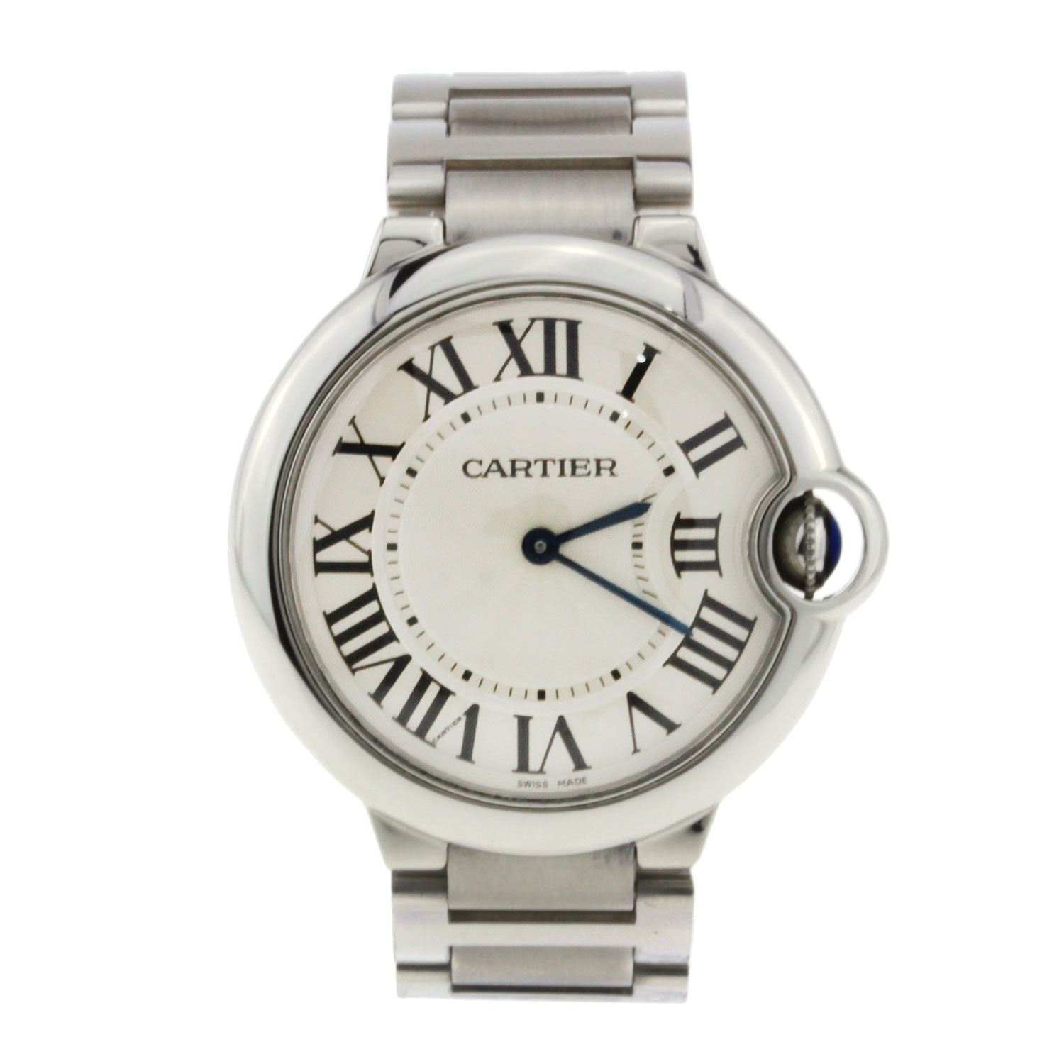 Cartier Ballon Bleu Ladies Stainless Steel Roman Numeral 28mm W69010Z4