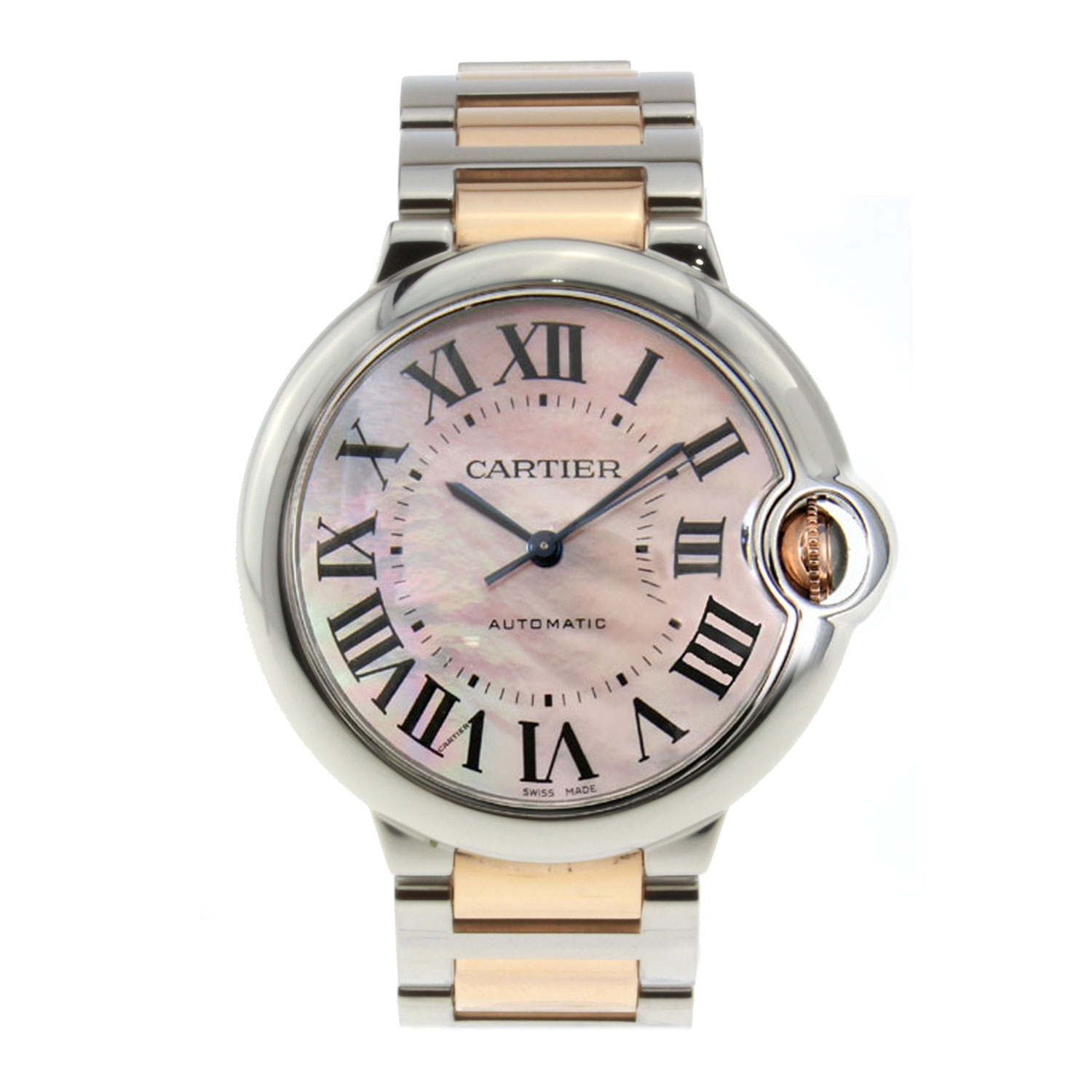 Cartier Ballon Bleu Ladies Stainless Steel Pink Dial 33mm W6920070