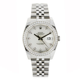 Rolex Datejust Jubilee Stainless Steel with White Gold & Diamond Bezel 36mm