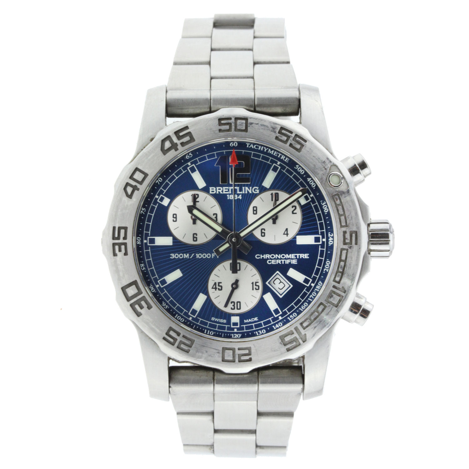 "Image of ""Breitling Aeromarine Colt 33 Blue Dial Stainless Steel 33mm"""