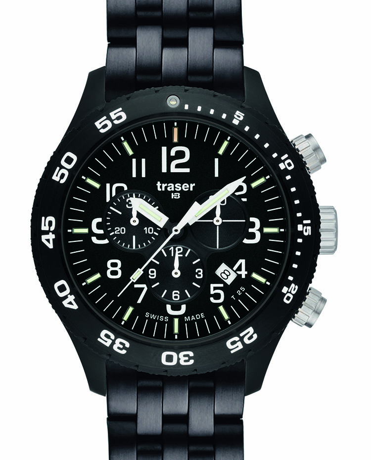"Image of ""Officer Chronograph Pro Pvd Steel Bracelet"""