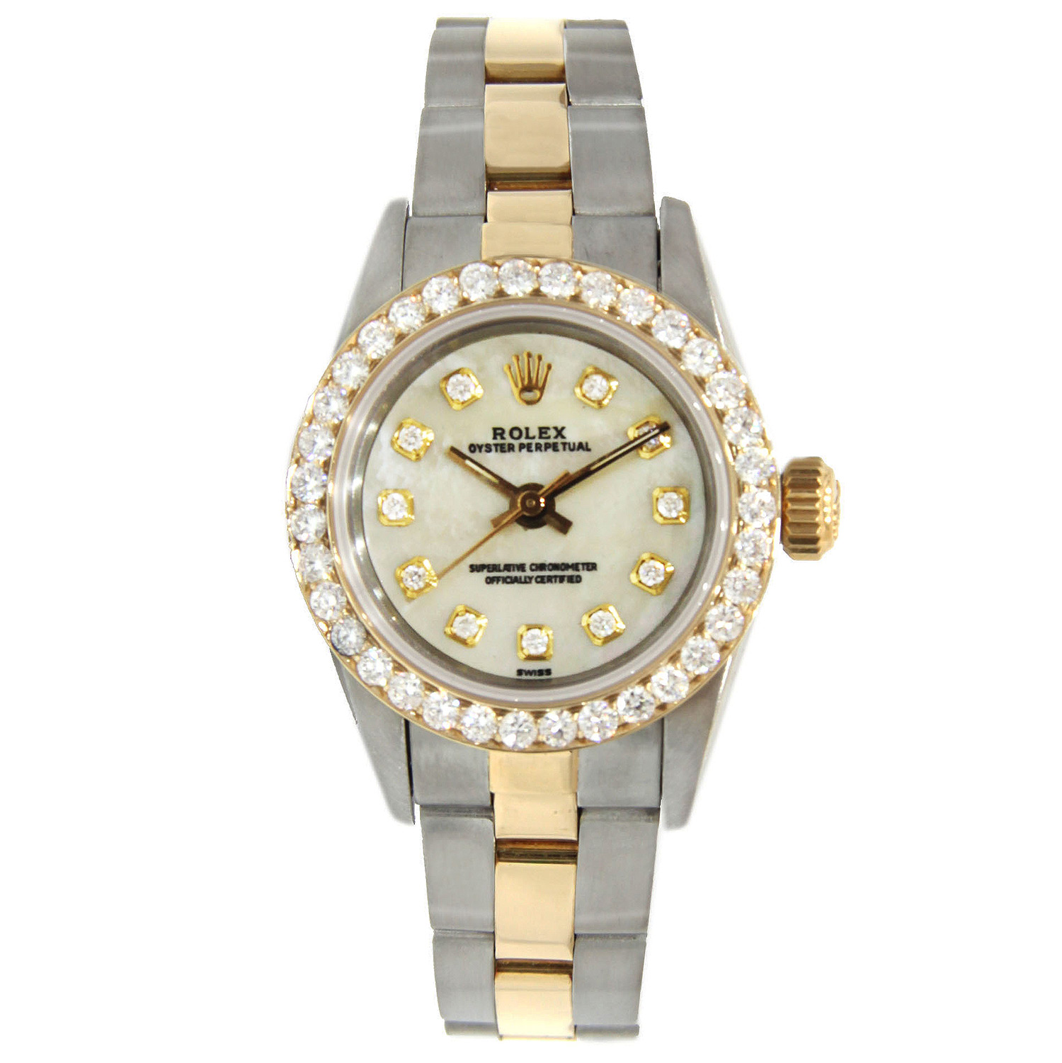 """Image of """"Rolex Datejust Lady's Two Tone Stainless Steel & Gold with Diamond"""""""