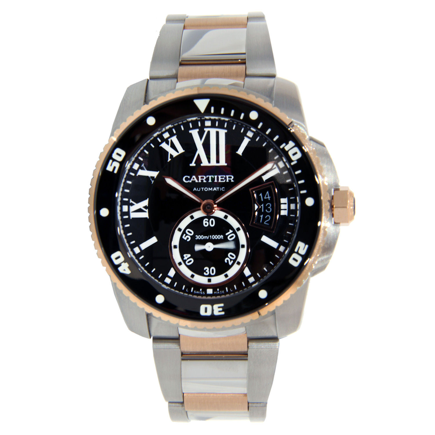 """Image of """"Cartier Calibre de Cartier Two Tone Stainless Steel & Rose Gold 42mm"""""""