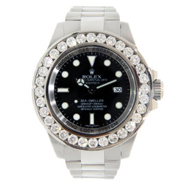 Rolex Sea-Dweller with aftermarket Diamond Bezel 44mm