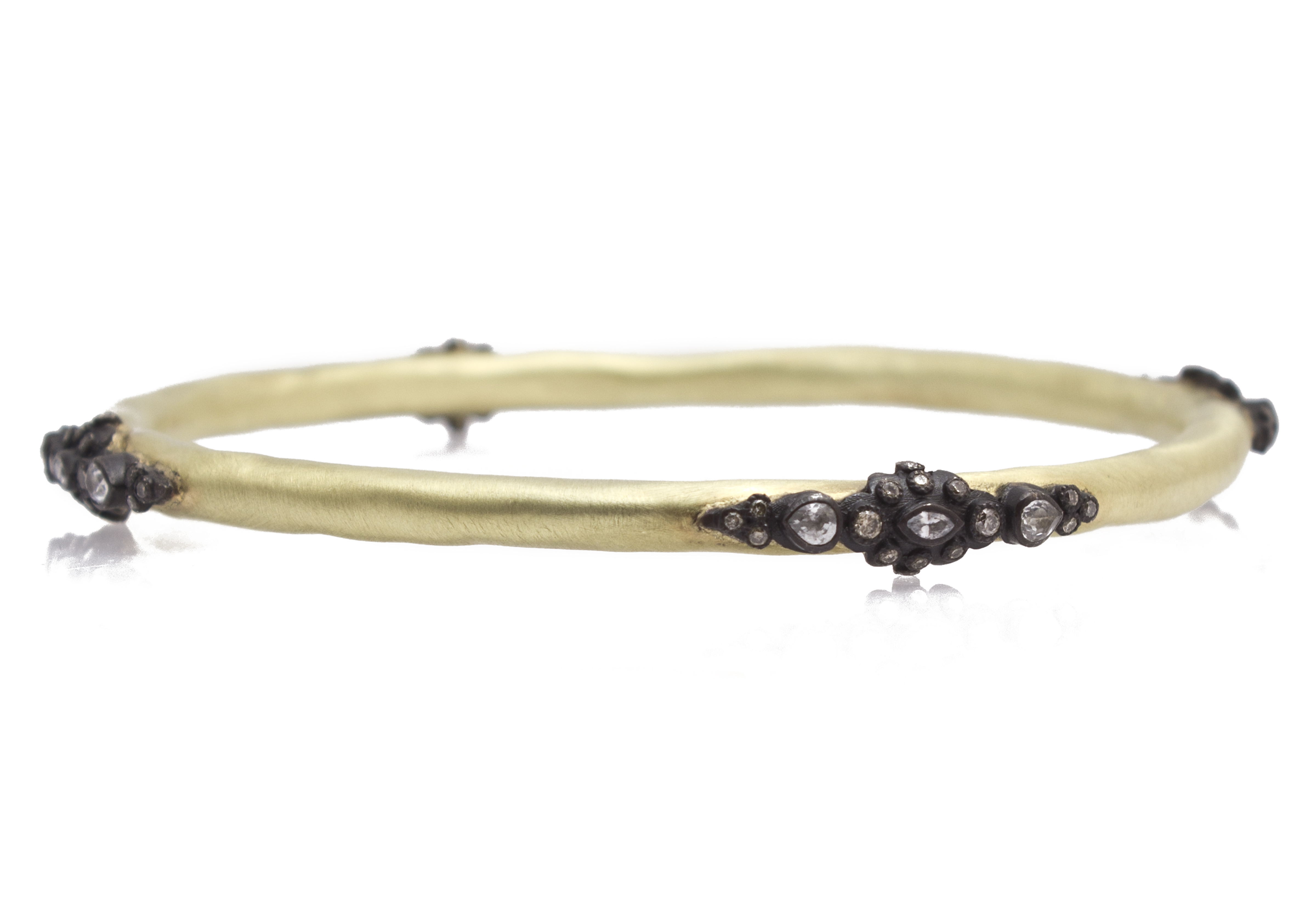 "Image of ""Armenta 18k Yellow Gold; Blackened Sterling Silver Bracelet"""