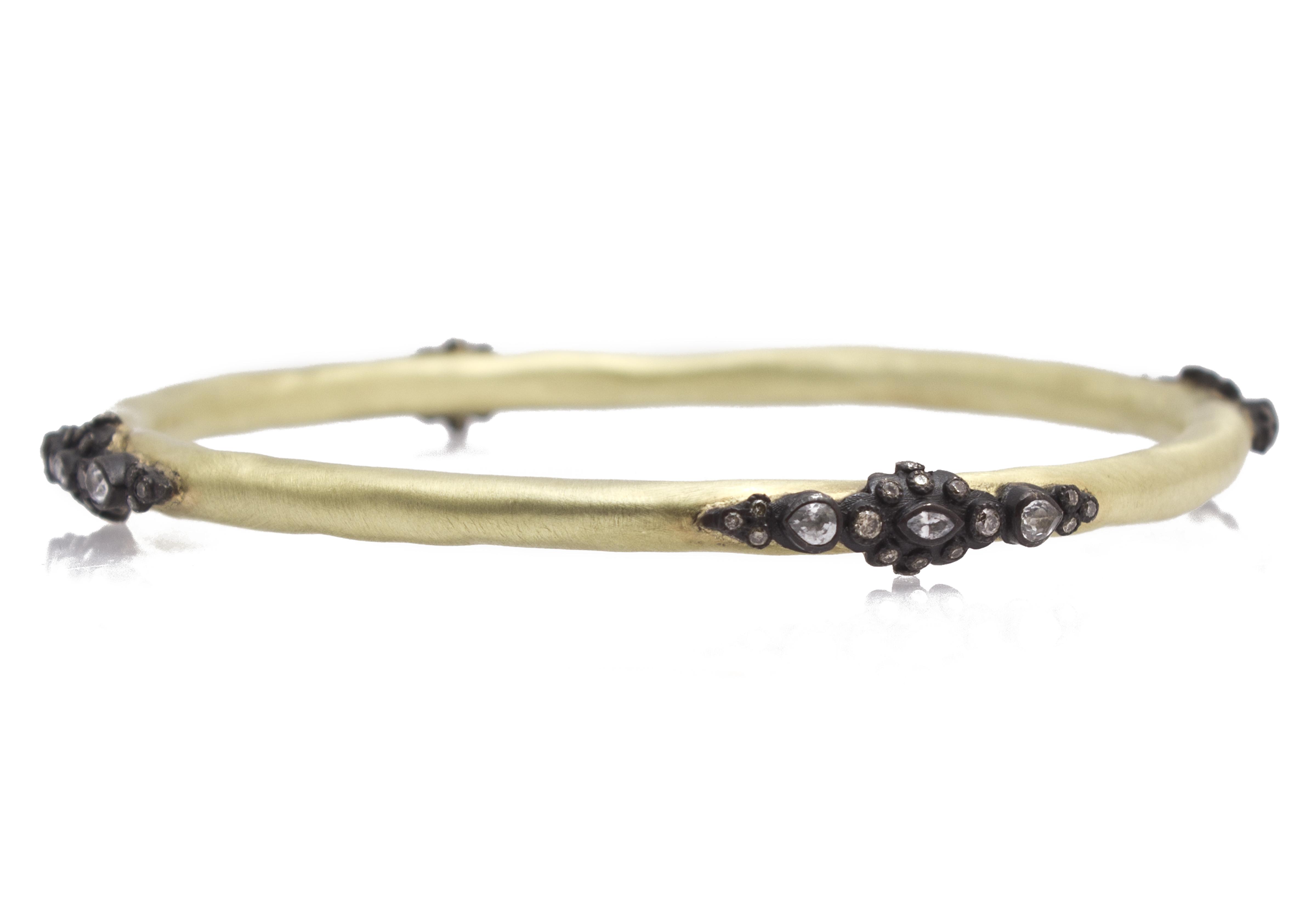 "Image of ""Armenta 18k Yellow Gold; Blackened Sterling Silver Bracelet"""