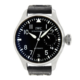 IWC Big Pilot with Brown Leather Strap Black Dial 45mm
