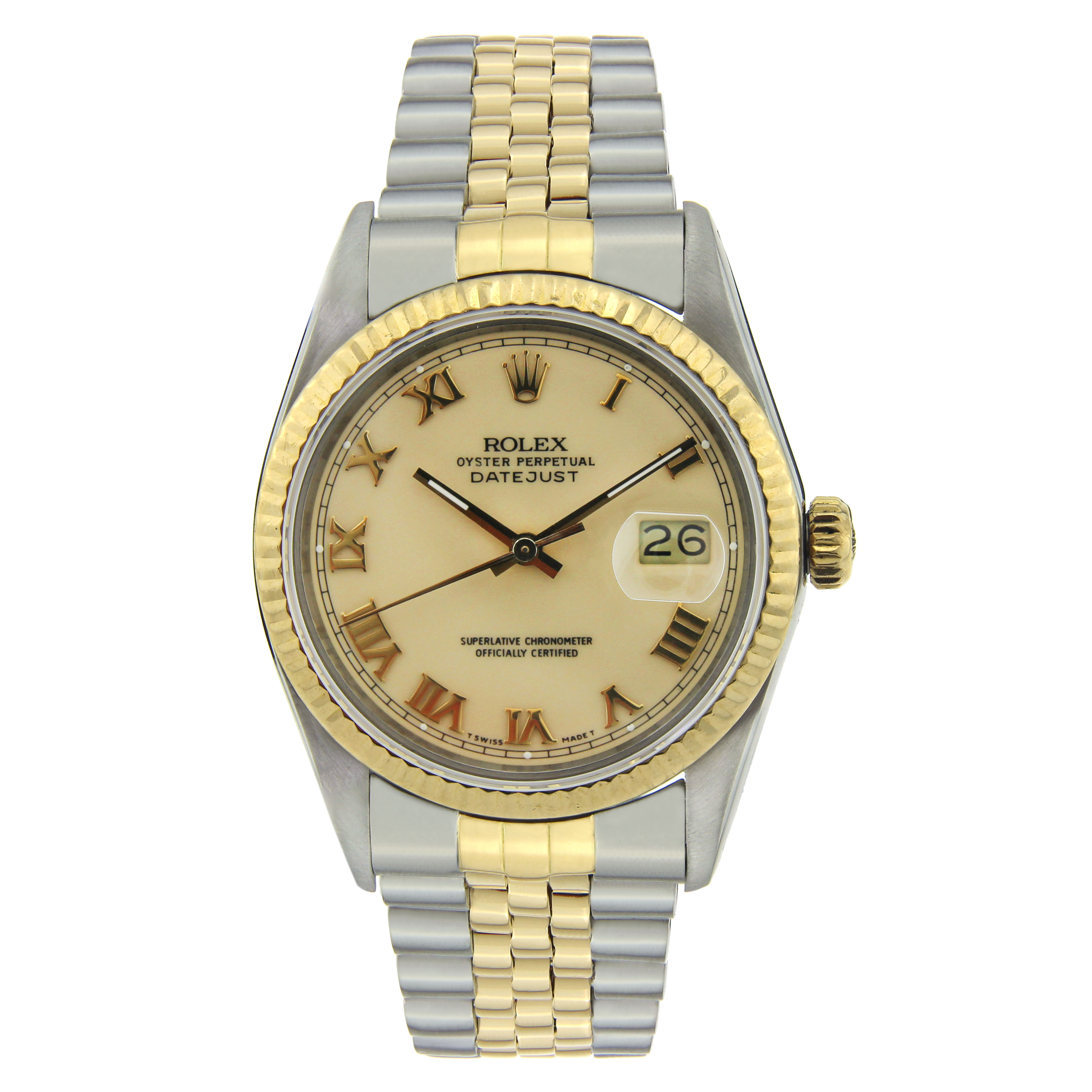 """Image of """"Rolex Datejust Stainless Steel & Yellow Gold with Yellow Gold 36mm"""""""