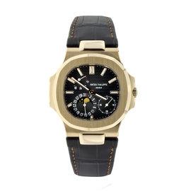 Patek Philippe Nautilus Rose Gold Leather Strap 5712R