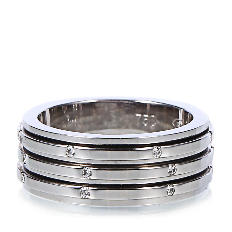 "Image of ""18K White Gold Diamond Possession 3 Band Ring"""