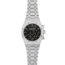 Audemars Piguet Royal Oak 41MM Chronograph Watch Stainless Steel Black Dial Watch