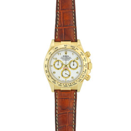 Rolex Daytaona Yellow Gold with Brown Leather Strap 116518 Watch