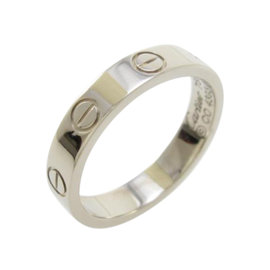 Cartier Mini Love 18k White Gold Ring Size 5.25