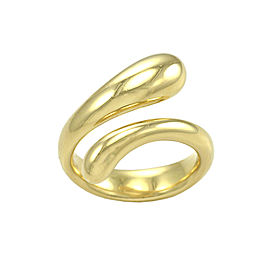 Tiffany and Co. Elsa Peretti 18K Yellow Gold Tear Drop Ring