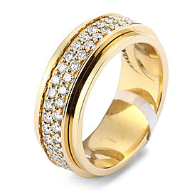 PIAGET 18K YG Double Diamond Possesion Ring