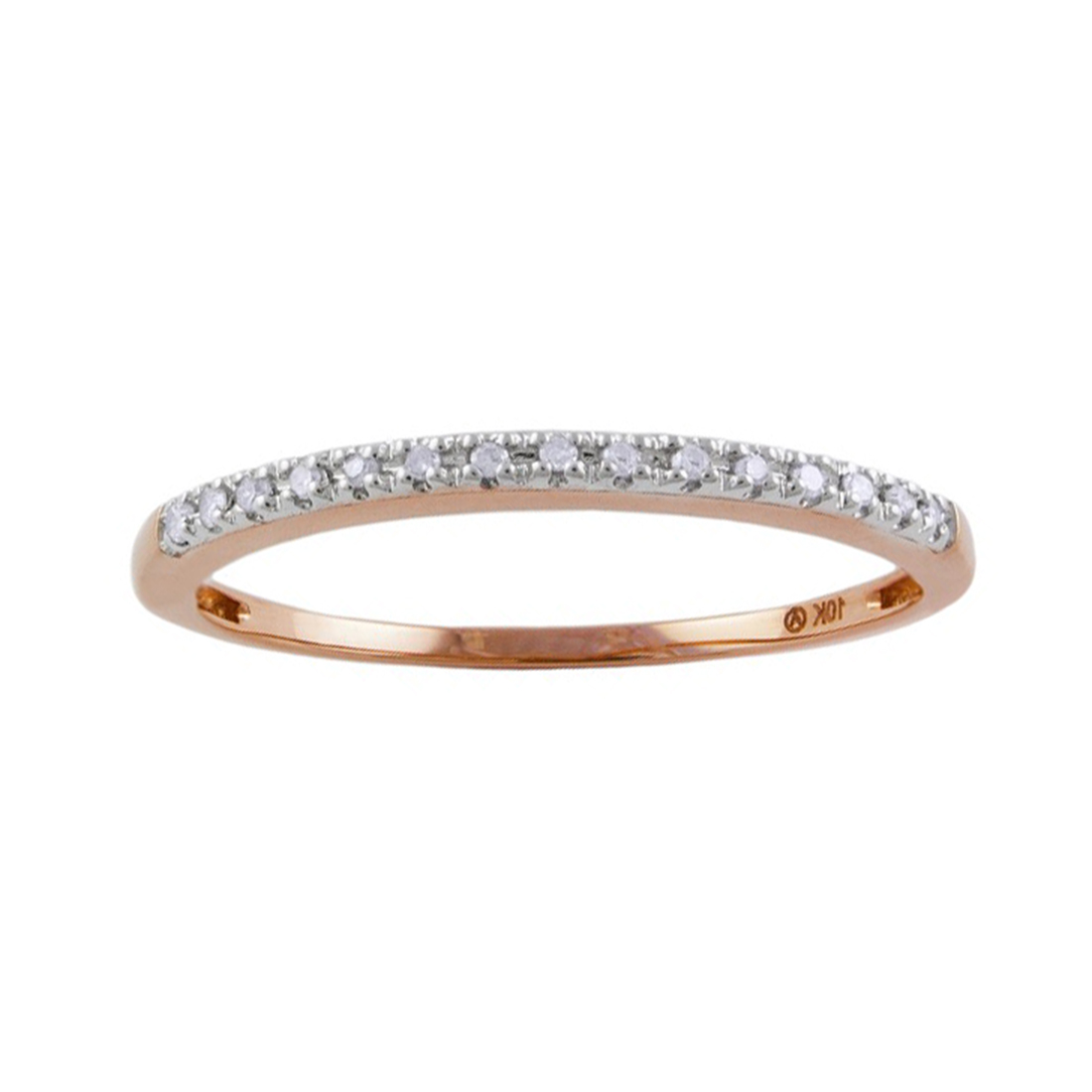 "Image of ""10K Rose Gold & 0.06cttw Diamond Ring Size 7"""