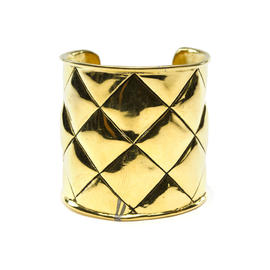Chanel Gold Quilted Cuff