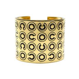 Chanel Coco Gold Wide Cuff