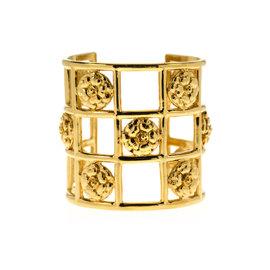Chanel Caged Camellia Cuff