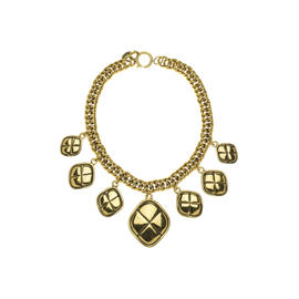 Chanel Gold Quilted Choker