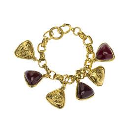 Pre-Owned Chanel Vintage Gold Gripoix Bracelet
