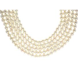 Chanel Faux Pearl Multi-Strand Choker
