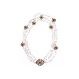 Chanel Baroque Pearl Multi-Strand Necklace