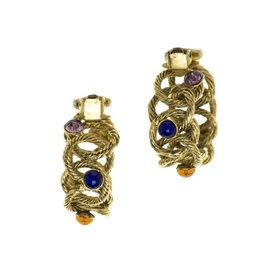 Chanel Gripoix Hoop Earrings