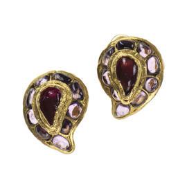 Chanel Gripoix Teardrop Earrings
