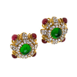 Chanel Crystal Gripoix Earrings
