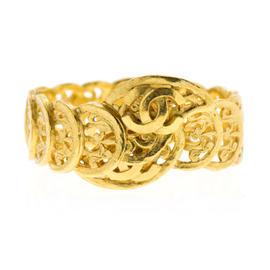 Chanel 95A Gold Elaborate Cuff