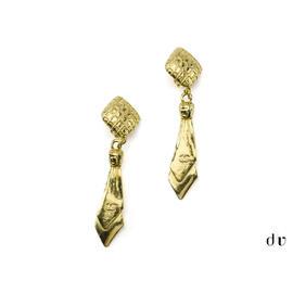 Chanel Gold Tie Earrings