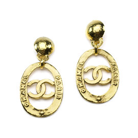 Chanel Gold Tone Earrings