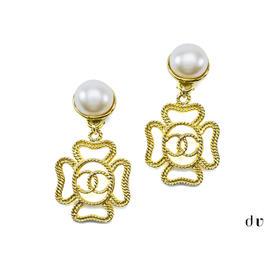 Chanel Four Leaf Earrings
