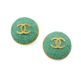 Chanel Oversized Green Earrings