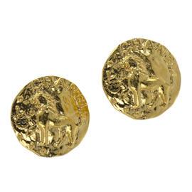 Chanel Gold Lion Earrings