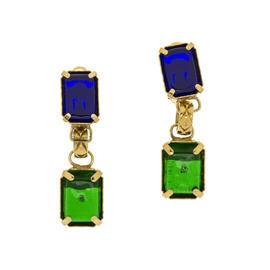 Chanel Gripoix Multicolored Dangle Earrings