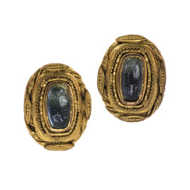 Chanel Poured Glass Baroque Earrings